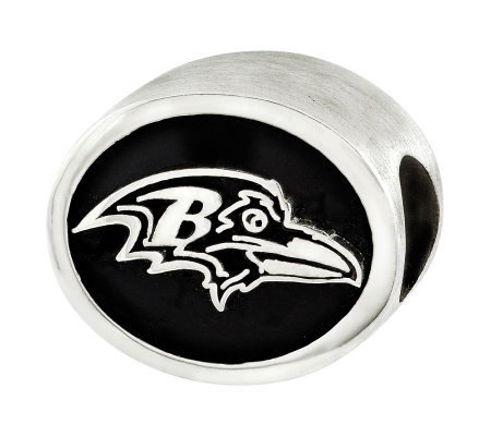 Sterling Baltimore Ravens NFL Bead