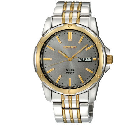 Seiko Men's Two-Tone Stainless Steel Solar Power Dress Watch