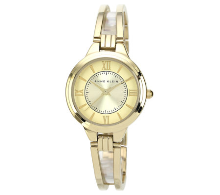 Anne Klein Women's Goldtone or Two-Tone Bracelet Watch