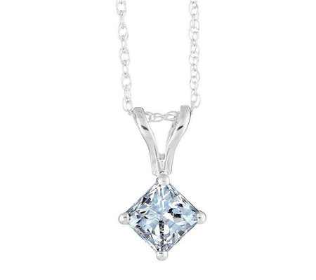 Princess-Cut Diamond Pendant, 14K Gold, 1/2cttw by Affinity