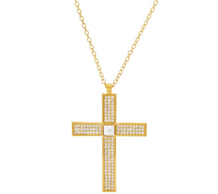 Linea by Louis Dell'Olio Double Sided Cross Pendant