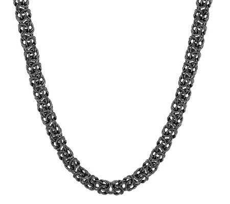 "Judith Ripka Sterling 24"" Verona Byzantine Necklace"