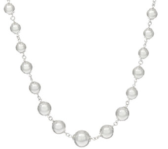 "UltraFine Silver 24"" Graduated Bead Necklace 46.00g - J326510"