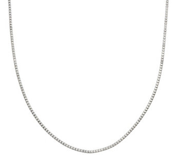 """As Is"" 36"" Polished Super Cube Chain by Silver Style - J328110"