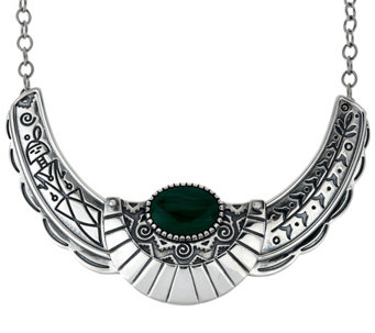 Fritz Casuse Sterling Silver & Malachite Harvest Moon Necklace - J329410