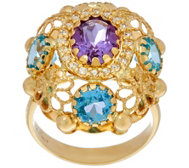 Arte d' Oro 5.00 ct tw Multi-Gemstone Oval Ring 18K Gold