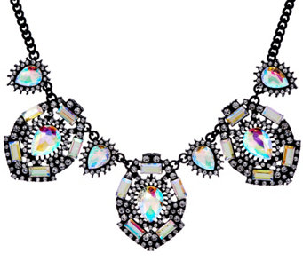 LOGO Links by Lori Goldstein Crystal Prism Bib Necklace - J332910