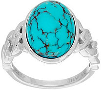 Oval Kingman Turquoise Sterling Silver Ring - J335710