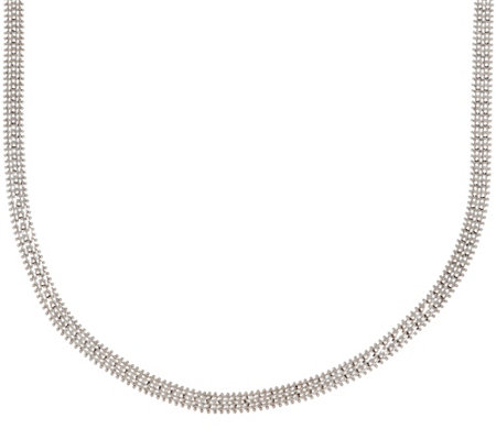 "Imperial Gold 18"" White Woven Wheat Necklace, 14K, 25.5g"