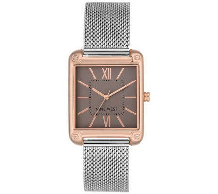 Nine West Ladies' Two-tone Larkinah Mesh StrapWatch