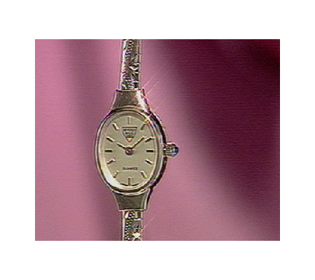 "Beverly Hills 7"" Engraved Omega Watch 14K Gold"