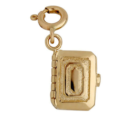 14K Yellow Gold Jewelry Box Charm