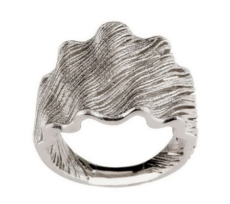 """As Is"" VicenzaSilver Sterling Satin Finish Wire Design Ring"
