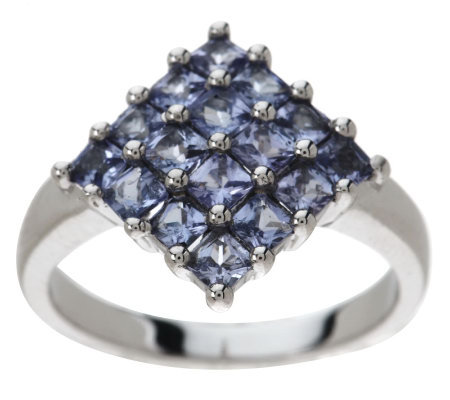 1.25 ct tw Princess Cut Tanzanite Sterling Ring