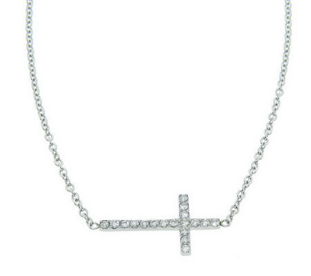Steel by Design Reversible Cross Necklace
