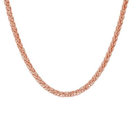 "Bronze 36"" Polished Spiga Chain Necklace by Bronzo Italia"