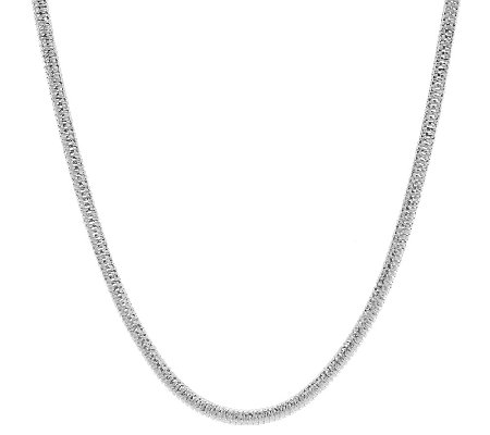 "UltraFine Silver 18"" Diamond Cut Snake Chain Necklace, 21.3g"
