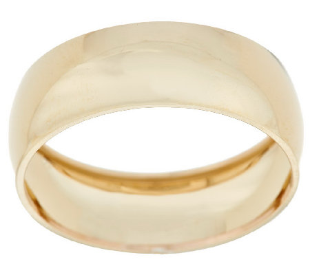 """As Is"" Highly Polished Wide Band Ring, 14K Gold"