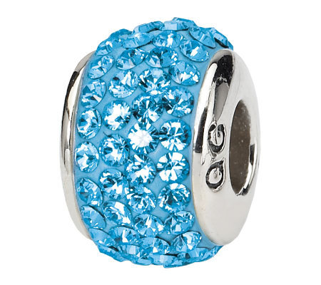 Prerogatives Sterling Sky Blue Full Swarovski Crystal Bead