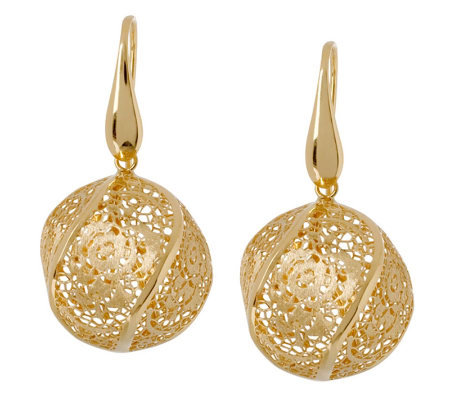 Arte d'Oro Floral Lace Bead Dangle Earrings, 18K Gold