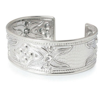 "Novica Artisan Crafted Sterling ""Petals"" Cuff - J303911"