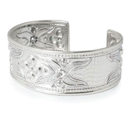 "Novica Artisan Crafted Sterling ""Petals"" Cuff"