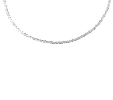 "UltraFine Silver 18"" Margherita Chain Necklace9.5g"