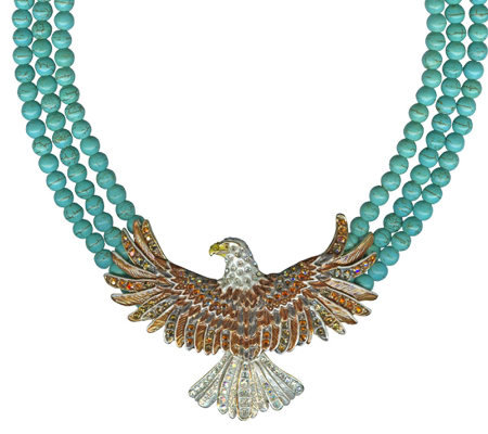 Kirks Folly Heart of the Huntress Glory Eagle Necklace