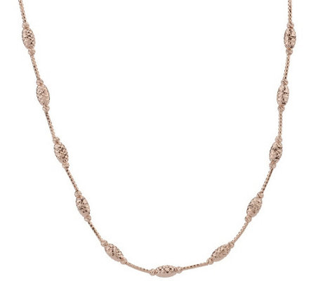 """As Is"" VicenzaSilver Sterling 16"" Diamond Cut Bead Necklace"