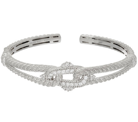 Judith Ripka Sterling Interlaced Diamonique Cuff