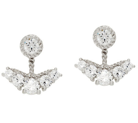 Judith Ripka Sterling_3.40 cttw Diamonique Earring Jackets
