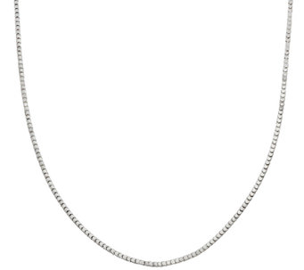 """As Is"" 18"" Polished Super Cube Chain by Silver Style - J326711"