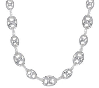 """As Is"" Sterling Silver 18"" Marine Link Chain Necklace by Silver Style - J329011"