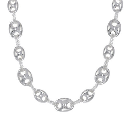 """As Is"" Sterling Silver 18"" Marine Link Chain Necklace by Silver Style"