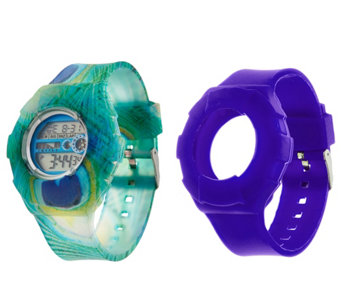 JoyJoy Watch w/ Two Interchangeable Skins Small Face - J329411