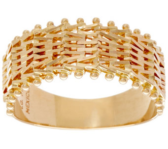 Imperial Gold Woven Riccio Ring, 14K Gold - J335111