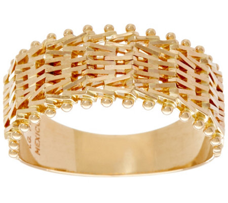 Imperial Gold Woven Wheat Ring, 14K Gold
