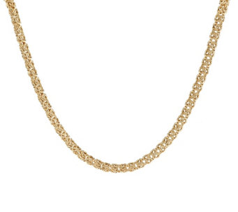 """As Is"" Veronese 18K Clad Hammered Byzantine 18"" Necklace - J335411"