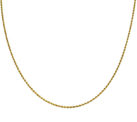 "EternaGold 24"" 009 Solid Rope Chain Necklace, 14K Gold, 4.4g"
