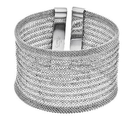 Stainless Steel Mesh Bold Cuff