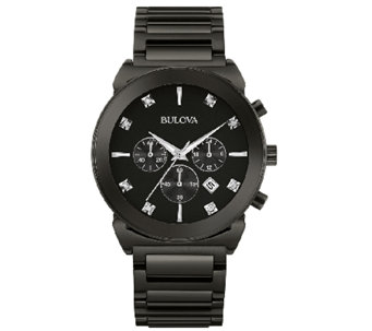 Bulova Men's Diamond Dial Chronograph Dress Watch - J339011