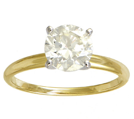 Diamond Solitiare Ring, 1-1/2ct, 14K Yellow Gold, by Affinity