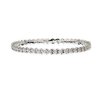 Simply Stacks Sterling Open Hearts Bangle - J340911