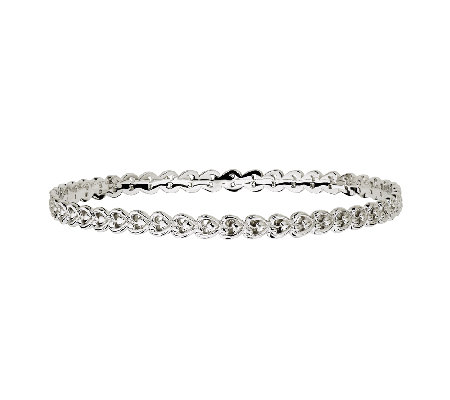 Simply Stacks Sterling Open Hearts Bangle