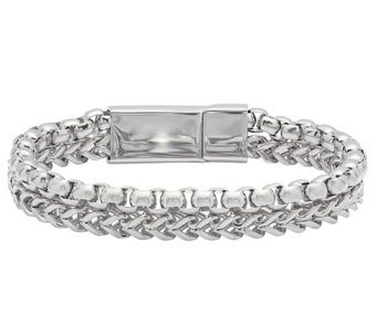 Forza Men's Stainless Steel Double Row Bracelet - J342811