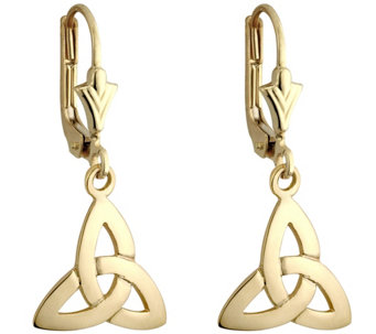 Solvar Trinity Knot Drop Earrings, 14K Yellow Gold - J343111