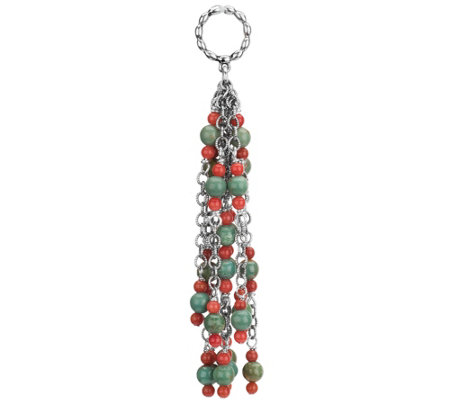 Sterling Gemstone Bead Tassel Charm by AmericanWest