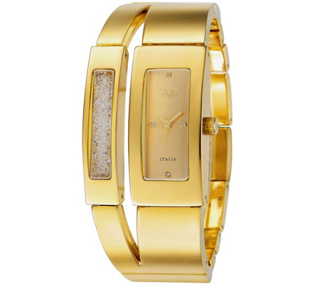 V19.69 Italia Women's Goldtone Dual-Bangle Watch