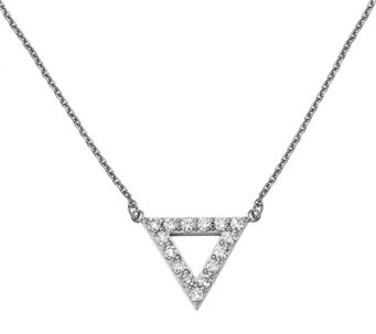 Dainty Designs 14K 7/8 cttw Diamond Large Triangle Necklace - J345311