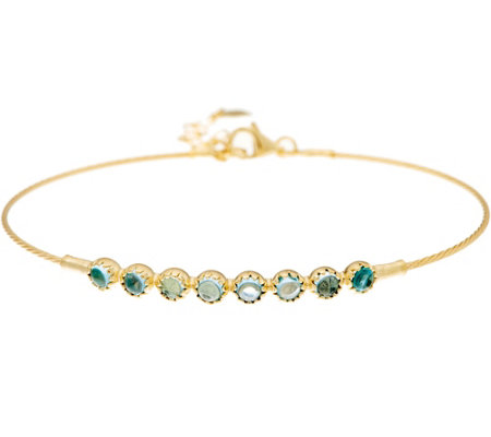 Adi Paz Adjustable Gemstone Bracelet 14K Gold